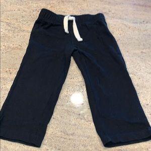 Kids black sweat pants